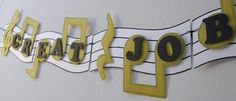 Musical Note Banner Birthday Party Decoration by bcpaperdesigns Kids Party Decorations, Baby Shower Decorations, Party Ideas, Music Room Art, Music Themed Parties, Banner, 1st Birthdays, Grad Parties, Messages