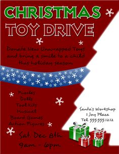 christmas toy drive flyer template in inkscape