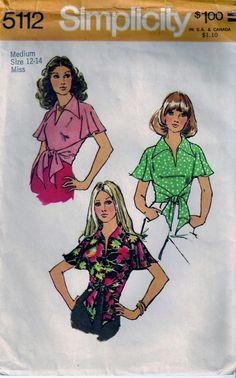 Vintage 70s Simplicity 5112 Sewing Pattern by vintagepatternstore