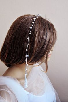 Crochet wedding accessories Bridal hairpin handmade by selenayy