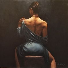 Hamish Blakely The Blue Dress painting is shipped worldwide,including stretched canvas and framed art.This Hamish Blakely The Blue Dress painting is available at custom size. Dress Painting, Woman Painting, Figure Painting, Boudoir Photography, Portrait Photography, Shooting Photo Boudoir, Fabian Perez, Pulp Art, Portraits