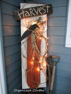 DIY Repurposed Rustic Fall Shutter Decor !