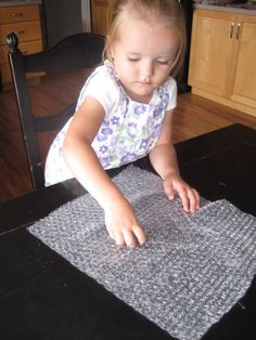 bubble wrap popping for fun & fine motor