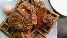 Biscoff Crusted Chicken + Waffles