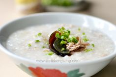 Congee with Salted Pork and Century Egg  -  Missing simple home cooked Chinese good...........