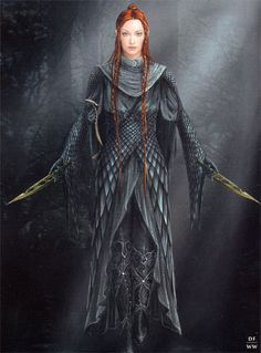 Tauriel designs via gilgret on Tumblr