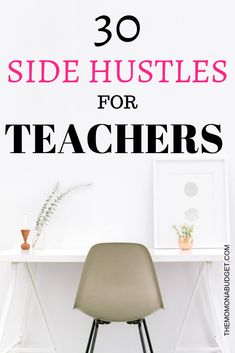 Looking to earn some extra money on the side? Want to switch to part-time teaching or stay at home but worried about a pay cut? Check out these side hustles for teachers! Jobs For Former Teachers, Summer Jobs For Teachers, Teacher Education, Teacher Jobs, Teacher Resumes, Online Side Jobs, Top Business Ideas, Teachers Corner, Job Work