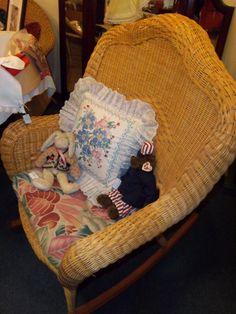 A Beautiful Wicker Rocking Chair. Super Comfy!