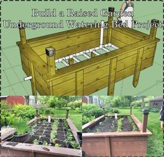 Build a Raised Garden Underground Watering Bed Project Homesteading  - The Homestead Survival .Com
