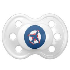 Aeroplane on a Roundel Pacifier - baby gifts giftidea diy unique cute