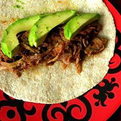 beer-spiked pulled pork tacos. NOM