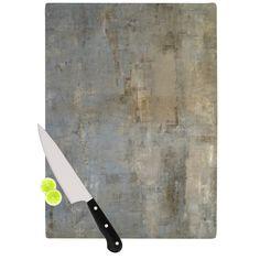 Kess InHouse CarolLynn Tice 'Overlooked' Brown Grey Cutting Board
