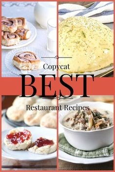 We're bringing you some of the best copycat restaurant recipes that will bring the flavors of the best restaurants right into your kitchen. Special Recipes, Great Recipes, Favorite Recipes, Summer Recipes, Cookbook Recipes, Cooking Recipes, What's Cooking, Easy Desserts, Dessert Recipes