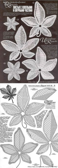 мк ирландия Feuilles avec des parties denses et ajourées. Crochet Paisley, Crochet Leaf Patterns, Crochet Leaves, Knitted Flowers, Crochet Motifs, Crochet Diagram, Freeform Crochet, Crochet Designs, Crochet Stitches