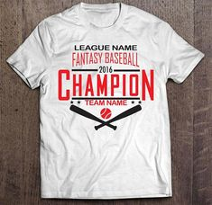 e7875d613 Customized and Personalized Fantasy Baseball Champion T-shirt for League  winners - Great alternative to championship trophy