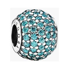 PANDORA 'Pave Lights' Bead Charm (€62) ❤ liked on Polyvore featuring jewelry, pendants, pandora, charm jewelry, clear crystal jewelry, beading jewelry, beaded jewelry and handcrafted jewellery