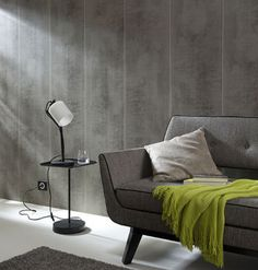 Revêtement mural, lambris PVC effet bois - Galerie Decarts http://www.decarts.fr/galerie-decoration-interieur/mur/revetement-mural-lambris-pvc-effet-beton-gris.html