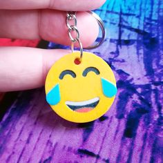 Face With Tears of Joy Emoji Keychain - printed product. You can find more Emoji Keychains at Manubim. Tears Of Joy, 3d Prints, Good Mood, Keychains, Emoji, Printed, Personalized Items, Face, Creative