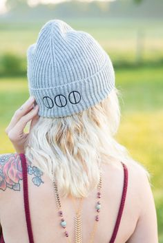 Somewear Boutique's Grey Logo Beanie  women's fashion and accessories  #accessories #womensfashion #ontrend #fashiontrends #trendingnow #beanie #hats #logo #brandname #designer #shoplocal #fashion #style #