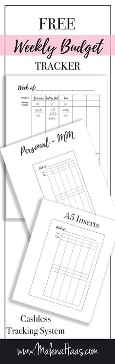 Free Printable Weekly Budget Tracker for Cashless Envelope Budget System http://www.hautehaas.com/2017/11/freebie-friday-weekly-budget-tracker.html