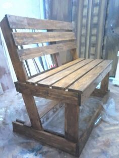 Diy : Benches from 2 Pallets Pallet Benches, Pallet Chairs & Stools