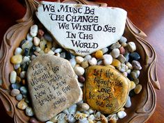 inspired stones in wooden bowl | Karen Fuhr | Flickr