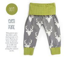 009 Eden Baggy Harem Pants PDF Sewing Pattern Kid by SadiandSam