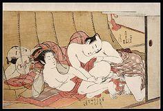Very Rare Koryusai - Shunga - Mosquito Net - c.1775.