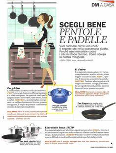 La casseruola Le Creuset in ghisa smaltata blu Marsiglia dell nuova linea Evolution su Donna Moderna del 12 maggio!