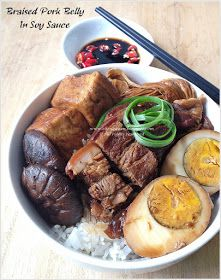 Cuisine Paradise | Singapore Food Blog | Recipes, Reviews And Travel: Braised Pork Belly With Rice - 卤肉饭
