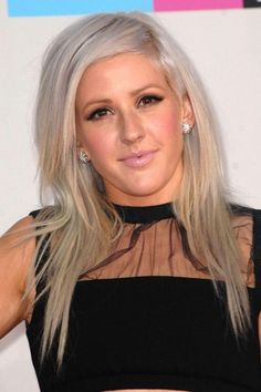 Ellie pulls a Perrie (Little Mix) and goes for the ice blonde barnet. LOVE.