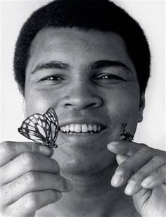 """""""Float like a butterfly, sting like a bee. The hands can't hit what the eyes can't see."""" -Muhammad Ali"""