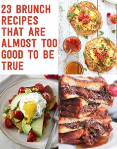 23 Brunch Recipes That Are Almost Too Good To Be True.i love brunch Breakfast Dishes, Breakfast Time, Breakfast Recipes, Birthday Breakfast, Breakfast Bars, Breakfast Ideas, Cooking Recipes, Healthy Recipes, Delicious Recipes