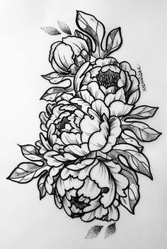60 Trendy Flowers Black Illustration Tattoo Ideas 60 Trendy Flowers Black Illustration Tattoo Ideas This image has. Marigold Tattoo, Peony Flower Tattoos, Flower Tattoo Drawings, Flower Tattoo Designs, Tattoo Sketches, Tattoo Ideas Flower, Butterfly Tattoos, Drawing Flowers, Watercolor Tattoos