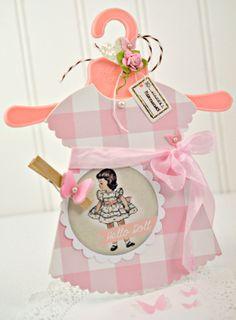 Hello Doll Card by Lori Hairston @ chouxchouxpaperart.com