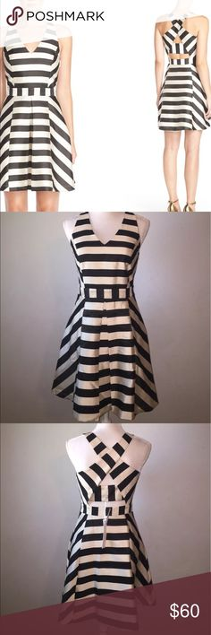 NWT Adelyn Rae Black & Champagne Striped Dress This dress is absolutely gorgeous! Perfect for brunch, dates, out with the girls and night outs! Adelyn Rae Dresses