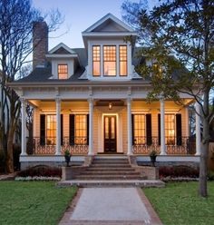 Because I have a thing for middle-front dormers, magnificent front doors, deep porches, and tall windows with a sweeping front step. What? Bring it.