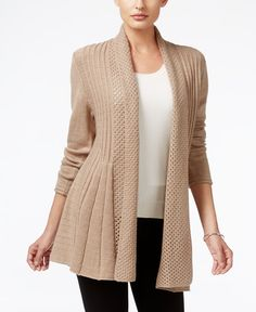 Add a chic layer with Ny Collection's effortless, open-front cardigan…