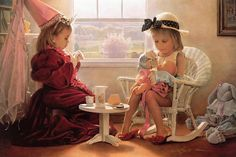 greg olson paintings | ... by Greg Olsen - Formal Luncheon Fine Art Prints and Posters for Sale