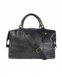 Barbour Leather Medium Travel Explorer Bag - Black UBA0008BK11