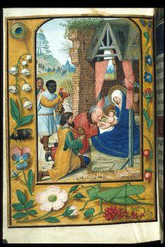 Adoration of the Magi Egerton 2125, f. 182v, NETHERLANDS, Ghent.