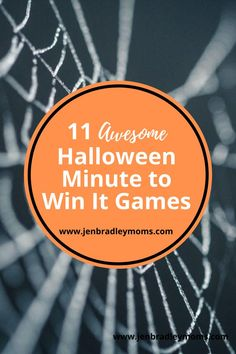 If you like minute to win it games, be sure to check out these low-prep, great Halloween game ideas for kids! #Halloweenideas #halloweengameideas #Halloweekforkids #halloweenminutetowinit #minutetowinitkids