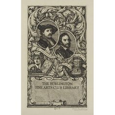 Charles William Sherborn: Book plate for the Burlington Fine Arts Club Library (Print)
