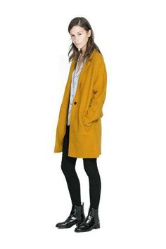 Longline Coat with Notch Lapel.