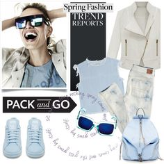 Pack and Go: Spring Getaway by helenevlacho on Polyvore featuring MARC BY MARC JACOBS, American Eagle Outfitters, adidas, Rebecca Minkoff, KAROLINA, Packandgo and springgetaway