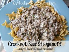 Crockpot Beef Stroga