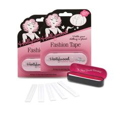 For keeping everything where it should be in your holiday dresses (also great for keeping tops work-appropriate at the office)!  Hollywood Fashion Secrets Double Stick Fashion Tape Strips