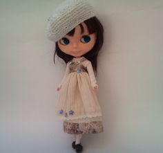 Layered pinafore dress for Blythe by RainbowDaisies on Etsy