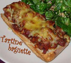 Tartine baguette à la bolognaise Street Food, Finger Foods, Vegetable Pizza, Food Inspiration, New Recipes, Tapas, Sandwiches, Main Dishes, Brunch