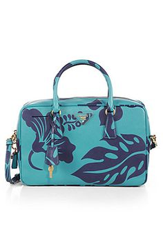 prada tropical prints | Prada Saffiano Print TV Bag, $1,950, available at Saks Fifth Avenue .
